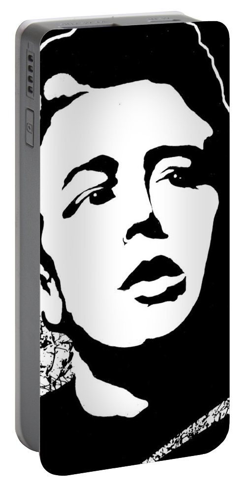 James Dean Portable Battery Charger featuring the painting James Dean by Curtiss Shaffer