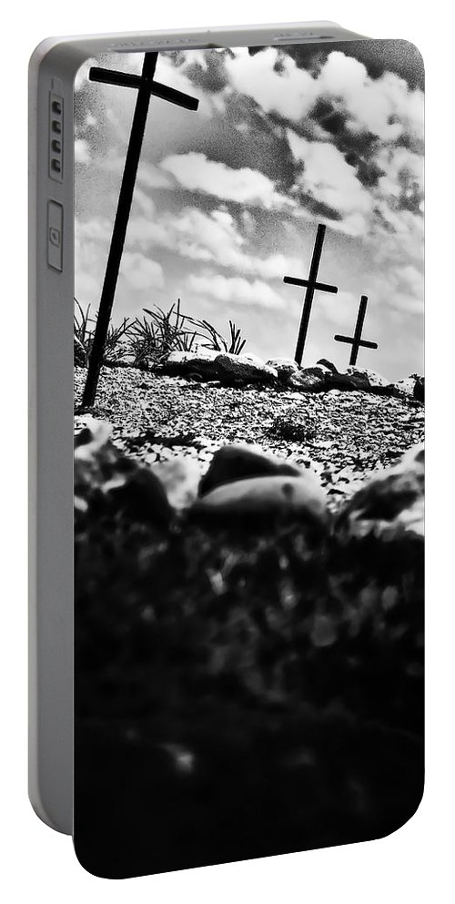 Jamestown Portable Battery Charger featuring the photograph Jamestown Cemetery by Bill Cannon