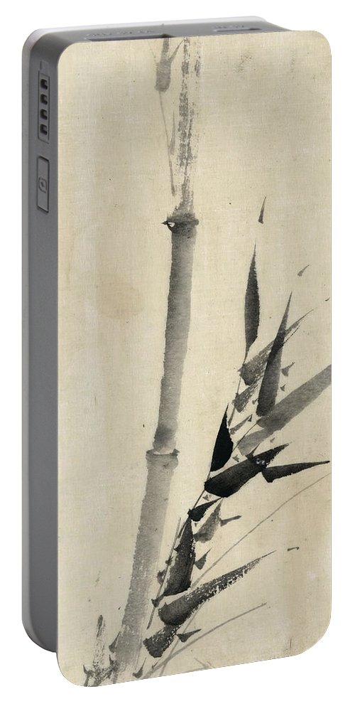 1850 Portable Battery Charger featuring the photograph Japan: Bamboo, C1830-1850 by Granger