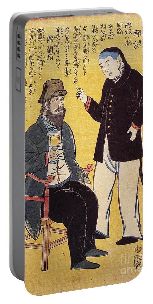 1861 Portable Battery Charger featuring the photograph Japan: French Trade, 1861 by Granger