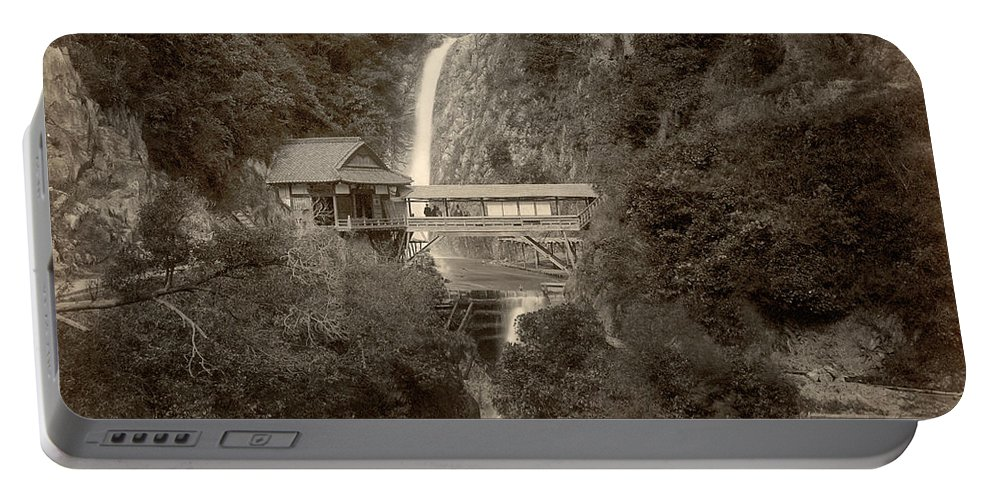 1890 Portable Battery Charger featuring the photograph Japan: Kobe, 1890s by Granger
