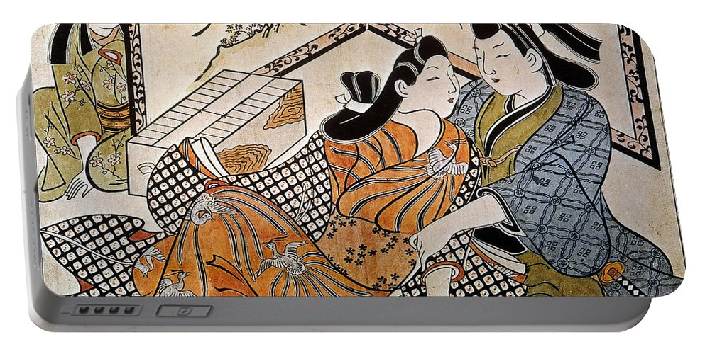 1685 Portable Battery Charger featuring the photograph Japan: Lovers by Granger
