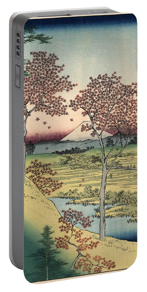 1858 Portable Battery Charger featuring the photograph Japan: Maple Trees, 1858 by Granger
