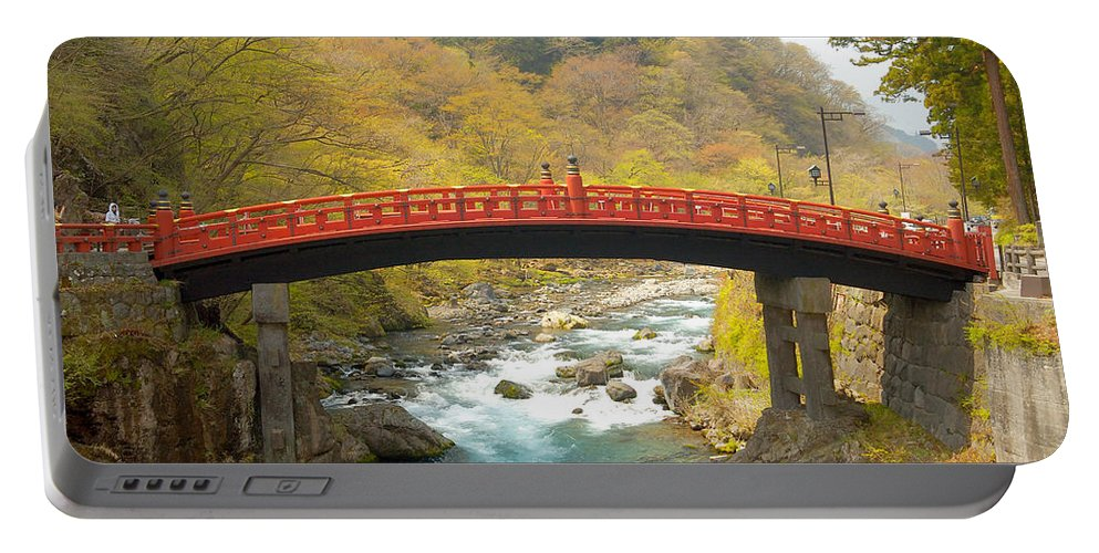 Japan Portable Battery Charger featuring the photograph Japanese Bridge by Sebastian Musial