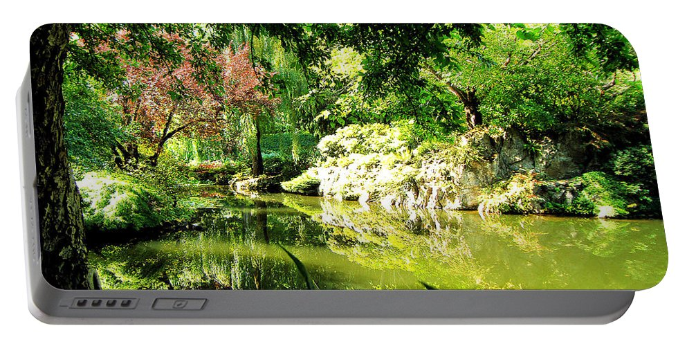 Japanese Portable Battery Charger featuring the photograph Japanese Garden by Jerome Stumphauzer