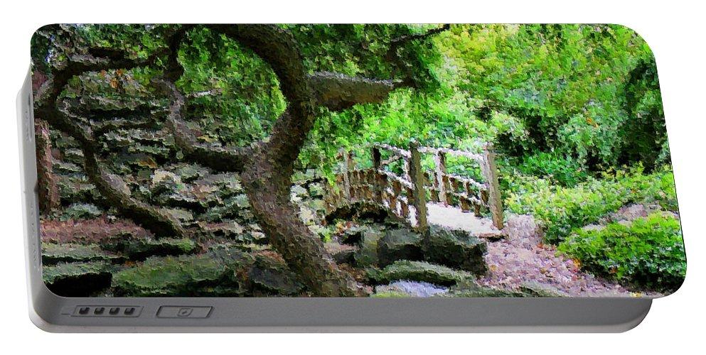 Garden Portable Battery Charger featuring the photograph Japanese Garden by Kristin Elmquist