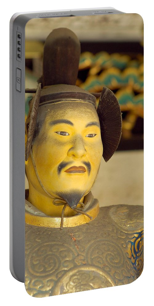 Japan Portable Battery Charger featuring the photograph Japanese Warrior by Sebastian Musial
