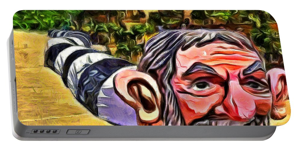 Adult Portable Battery Charger featuring the painting Jarareco by Leonardo Digenio