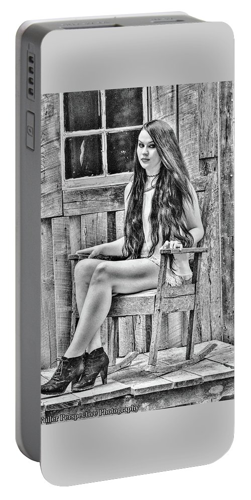 Portrait Portable Battery Charger featuring the photograph Jasmine by Chad Fuller