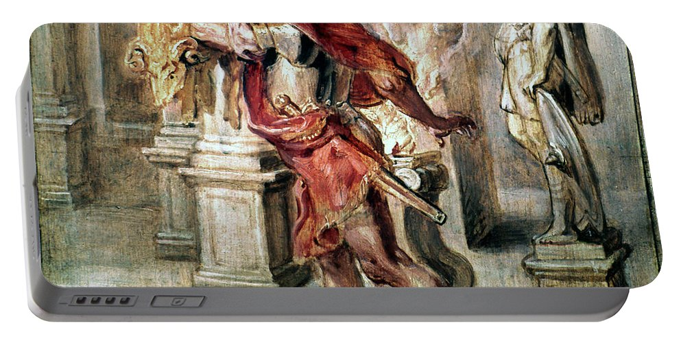 1637 Portable Battery Charger featuring the painting Jason With Golden Fleece by Granger