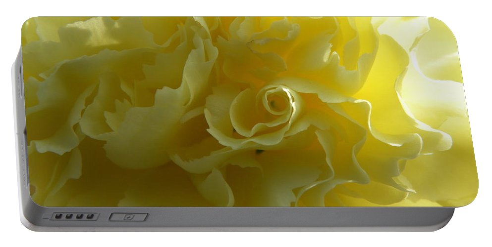 Nature Portable Battery Charger featuring the photograph Yellow Waves by Shannon Turek