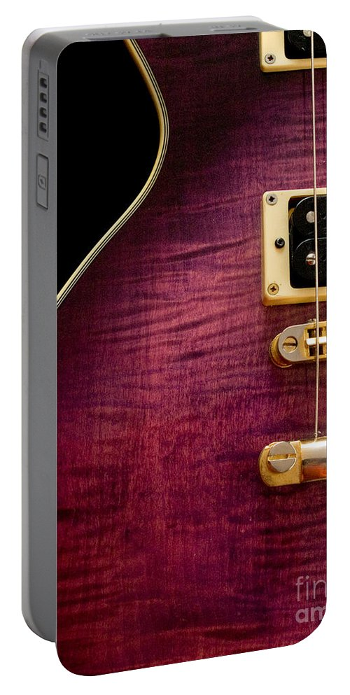 Jay Turser Portable Battery Charger featuring the photograph Jay Turser Guitar 3 by Dorothy Lee