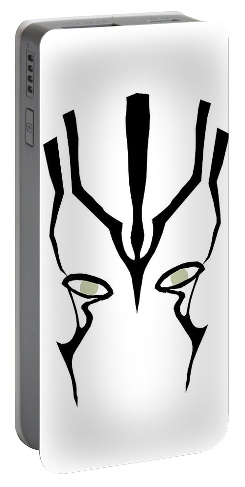Jaylah Portable Battery Charger featuring the digital art Jaylah by Shane Ede