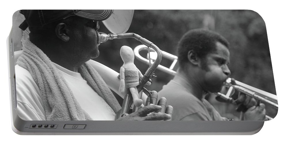 Jazz Band Portable Battery Charger featuring the photograph Jazz Musicians by Michelle Powell