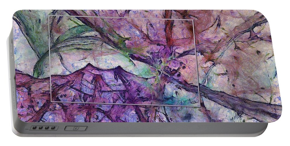 Ndc099 Portable Battery Charger featuring the painting Jazzier Intermixture Id 16098-035224-75483 by S Lurk