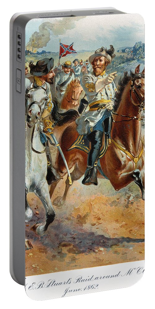 1862 Portable Battery Charger featuring the photograph Jeb Stuarts Cavalry 1862 by Granger