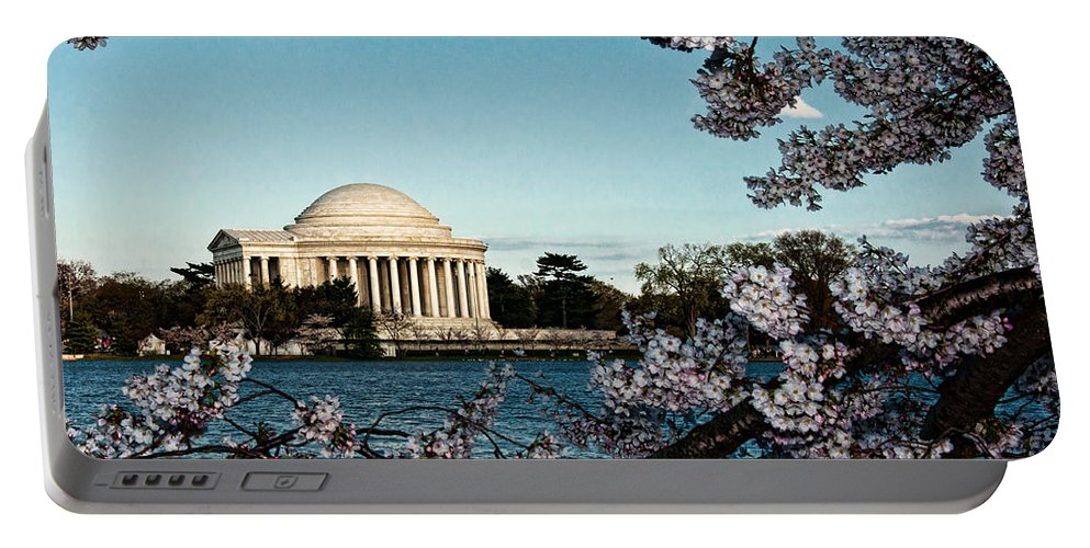 Memorial Portable Battery Charger featuring the photograph Jefferson Memorial In Spring by Christopher Holmes
