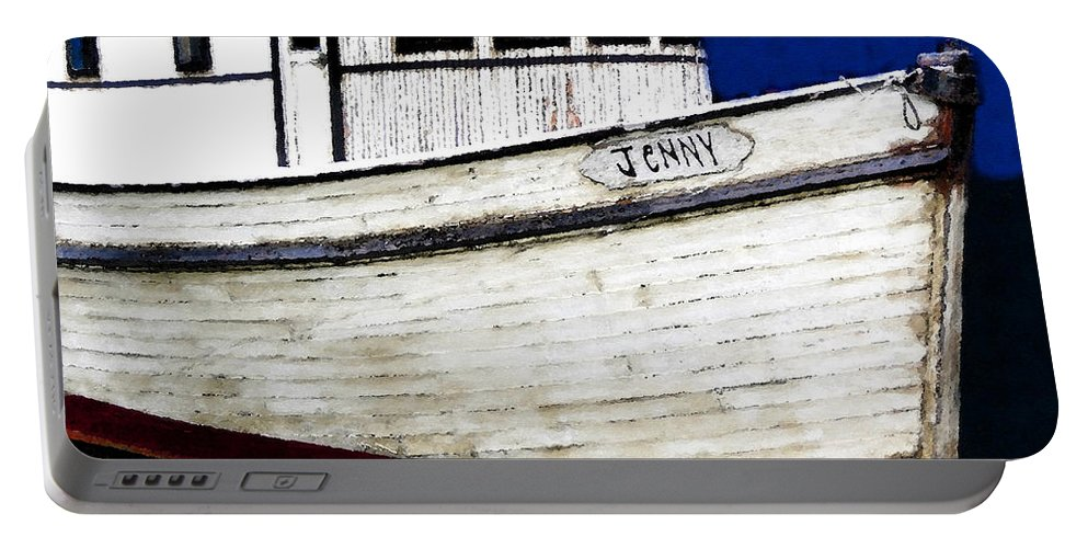 Art Portable Battery Charger featuring the painting Jenny by David Lee Thompson