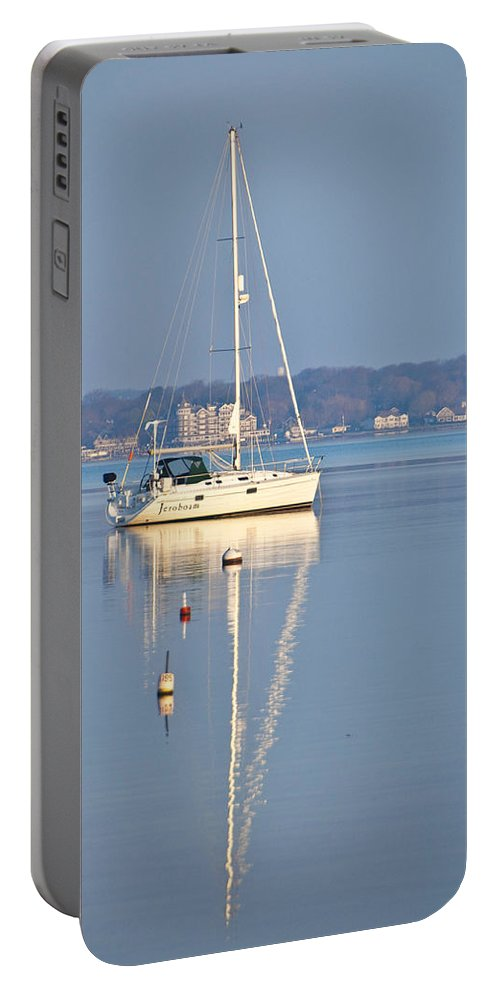 Yacht Portable Battery Charger featuring the photograph Jerobaum by Steven Natanson
