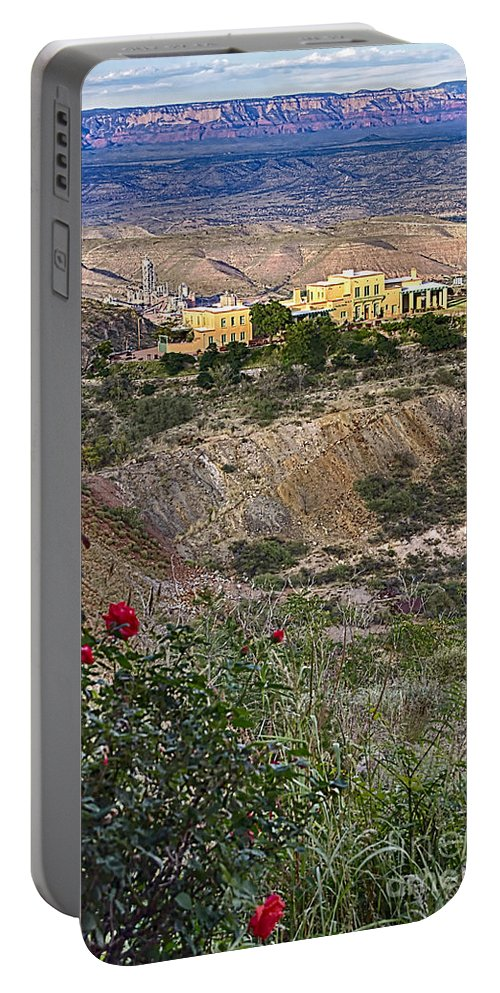 Jerome's Douglas Mansion Portable Battery Charger featuring the photograph Jerome's Douglas Mansion by Priscilla Burgers
