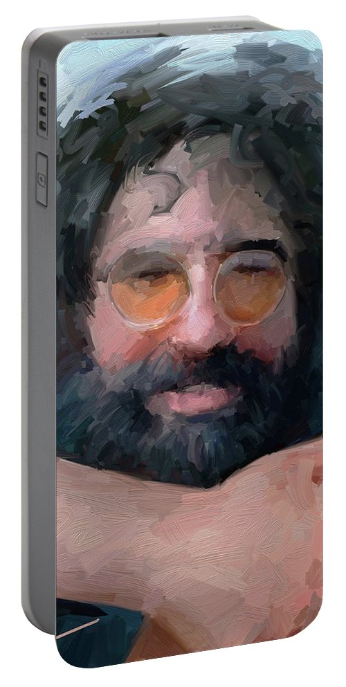 Jerry Portable Battery Charger featuring the digital art Jerry by Scott Waters