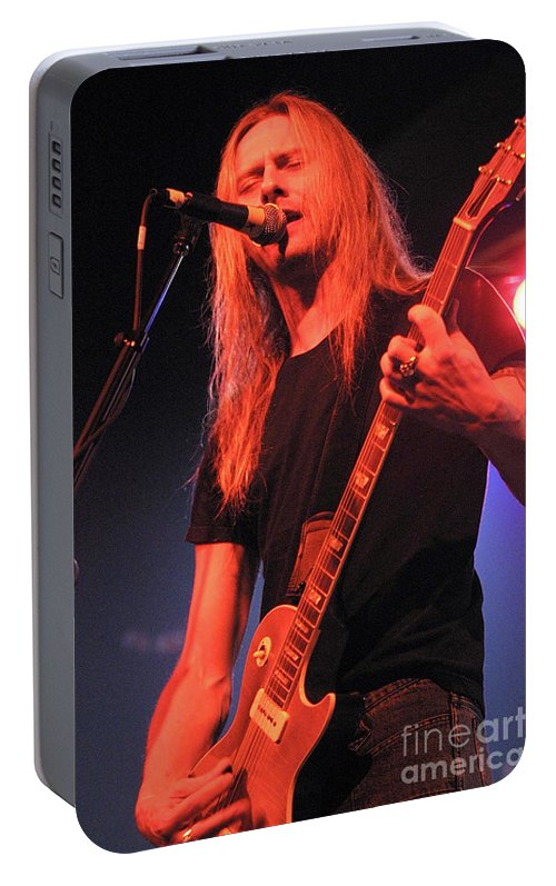 Alice In Chains Portable Battery Charger featuring the photograph Guitarist Jerry Cantrell by Concert Photos