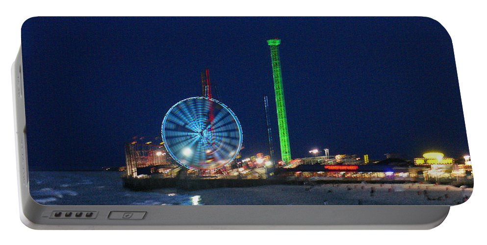Landscape Portable Battery Charger featuring the digital art Jersey Shore by Steve Karol
