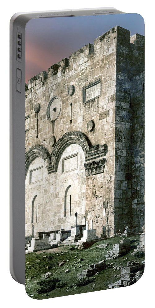 Jerusalem Portable Battery Charger featuring the photograph Jerusalem Golden Gate by Munir Alawi