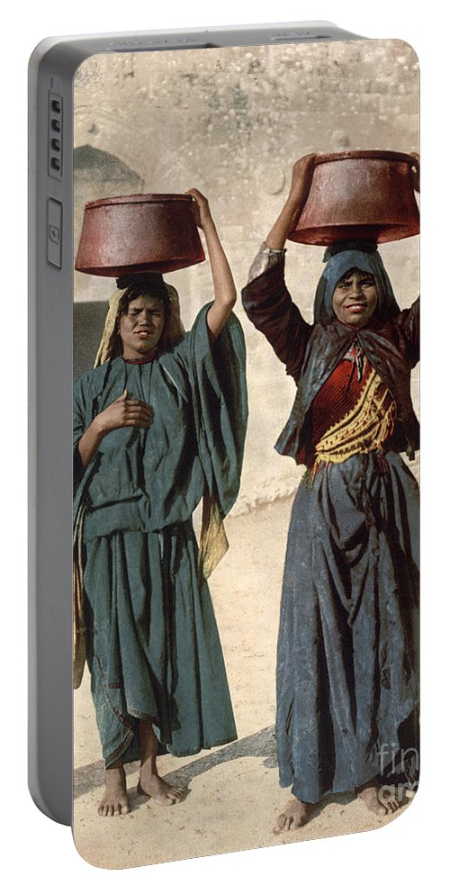 1895 Portable Battery Charger featuring the photograph Jerusalem: Milk Seller by Granger