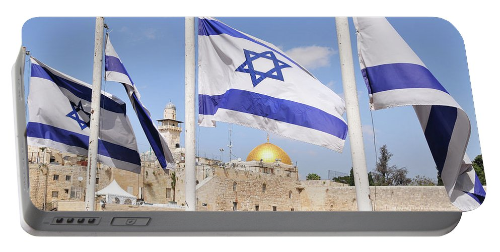 Jerusalem Portable Battery Charger featuring the photograph Jerusalem Wailing Wall by Ohad Shahar