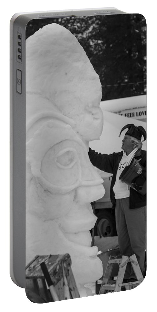 Mccall Portable Battery Charger featuring the photograph Jester by Angus Hooper Iii