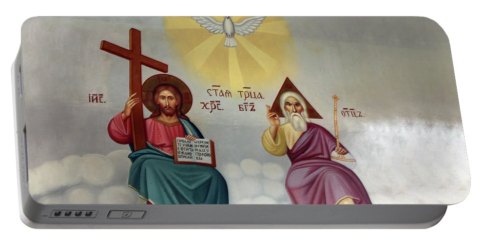Jesus Portable Battery Charger featuring the photograph Jesus And Abraham by Munir Alawi