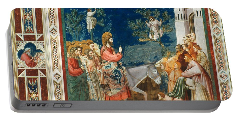 1305 Portable Battery Charger featuring the photograph Jesus Entering Jerusalem by Granger
