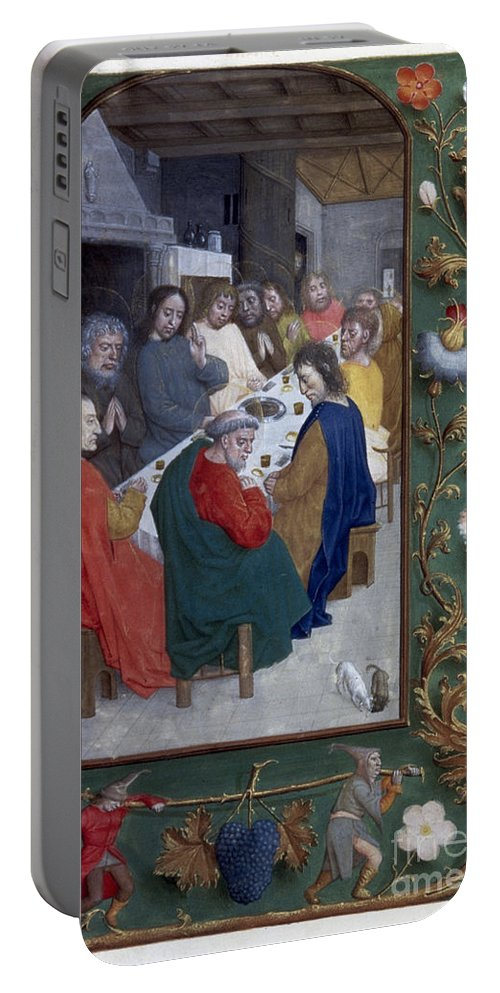 1500 Portable Battery Charger featuring the painting Jesus: Last Supper by Granger