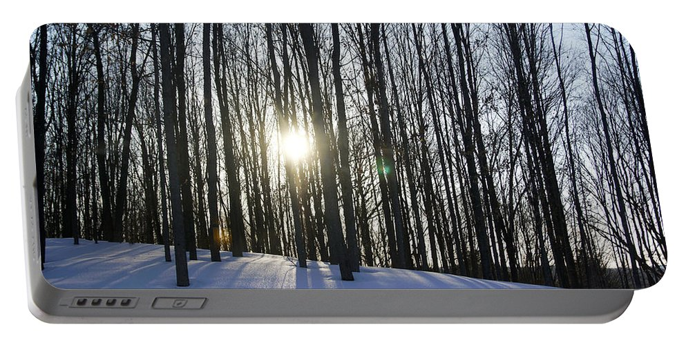 Snow Portable Battery Charger featuring the photograph Jesyca's View by Pablo Rosales