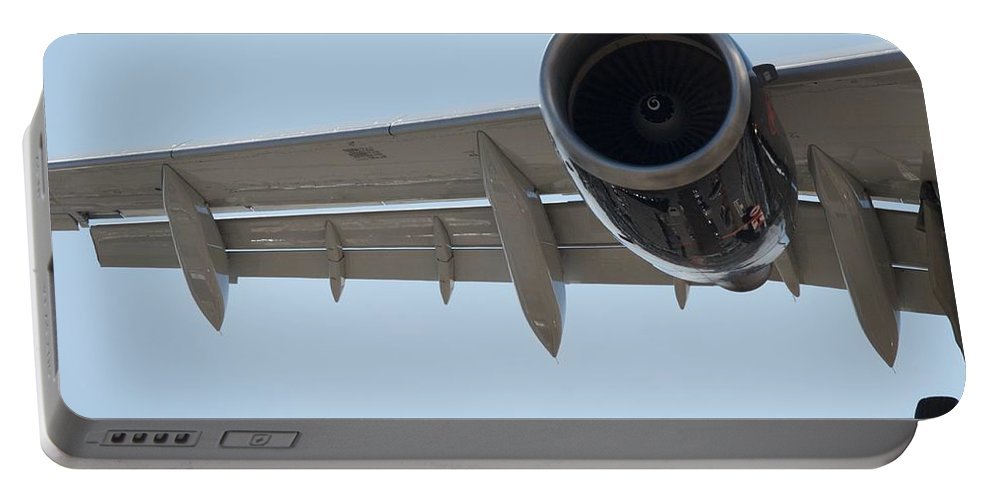 Jet Portable Battery Charger featuring the photograph Jet Engine Detail by Greg Hayhoe
