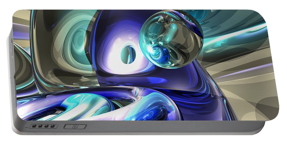 3d Portable Battery Charger featuring the digital art Jewel Of The Nile Abstract by Alexander Butler