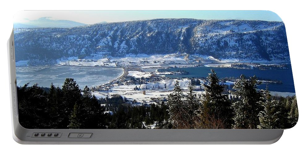 Oyama Portable Battery Charger featuring the photograph Jewel Of The Okanagan by Will Borden