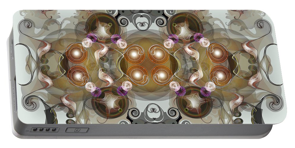 Jewels Portable Battery Charger featuring the digital art Jewels2 by George Pasini
