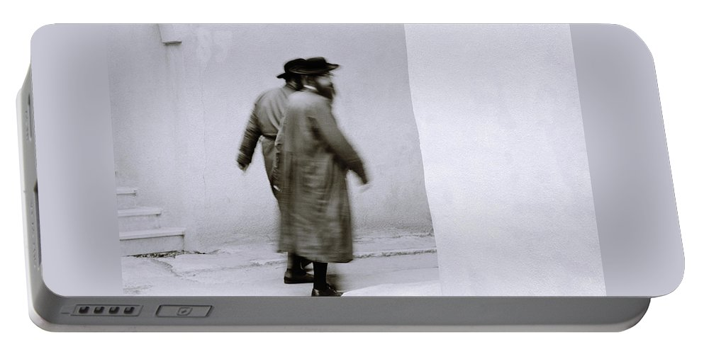 Jerusalem Portable Battery Charger featuring the photograph Jewish Life by Shaun Higson