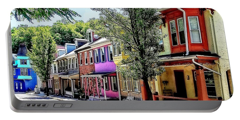Jim Thorpe Portable Battery Charger featuring the photograph Jim Thorpe Pa - Quaint Street by Susan Savad