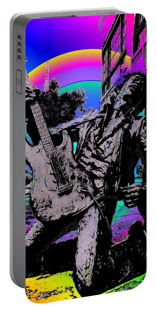 Seattle Portable Battery Charger featuring the photograph Jimi Hendrix by Tim Allen