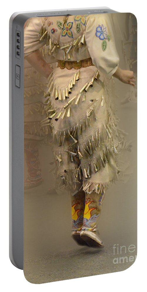 Pow Wow Portable Battery Charger featuring the photograph Pow Wow Jingle Dancer 9 by Bob Christopher