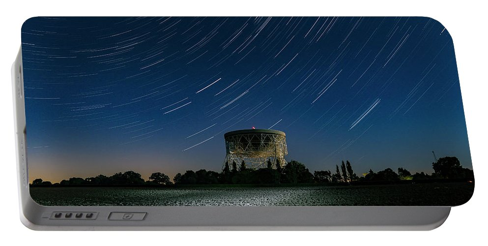 Jodrell Bank Portable Battery Charger featuring the photograph Jodrell Bank Star Trails by Ian Haworth