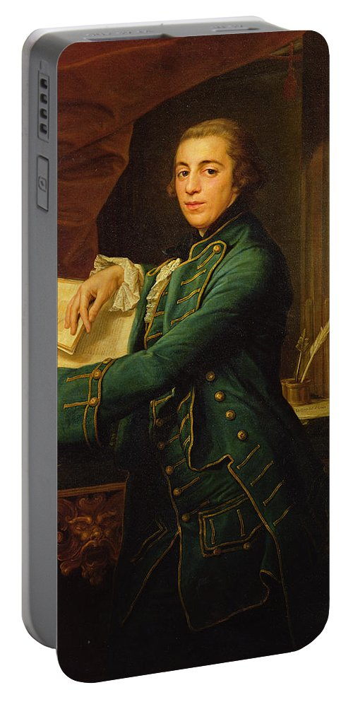 John Portable Battery Charger featuring the painting John Crewe by Pompeo Girolamo Batoni