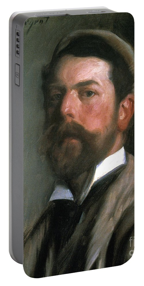 1892 Portable Battery Charger featuring the photograph John Singer Sargent by Granger