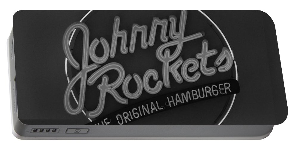 Macro Portable Battery Charger featuring the photograph Johnny Rockets by Rob Hans
