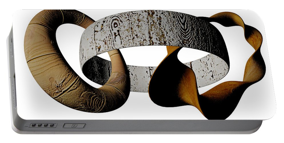 Circle Portable Battery Charger featuring the digital art Join Circles by R Muirhead Art