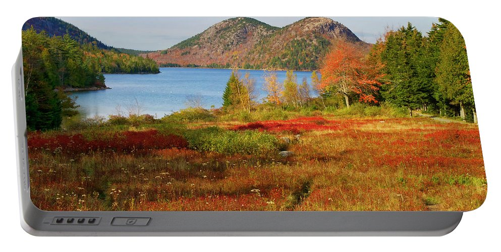 Landscape Portable Battery Charger featuring the photograph Jordan Pond 2 by Arthur Dodd