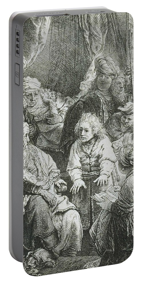 Rembrandt Portable Battery Charger featuring the relief Joseph Telling His Dreams by Rembrandt